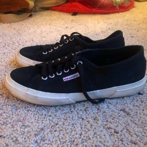 SUPERGA black cream bottoms good used condition